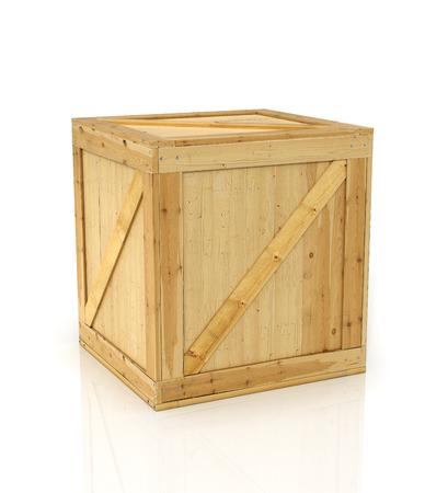 白い背景の上の木箱