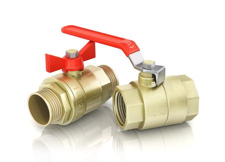fixtures: Plumbing fixtures and piping parts Stock Photo