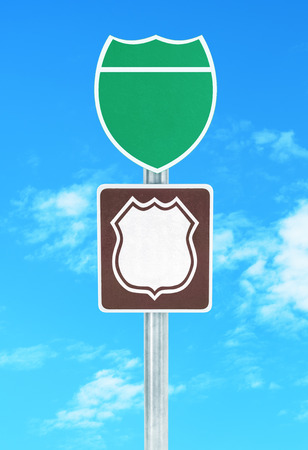 objec: Road sign isolated on a white background.