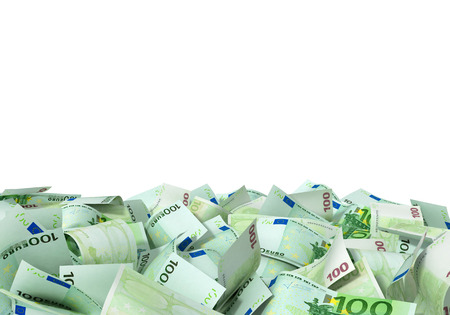 pay money: A large pile of euro notes