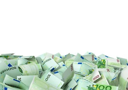 billets euros: Un gros tas de billets en euros Banque d'images