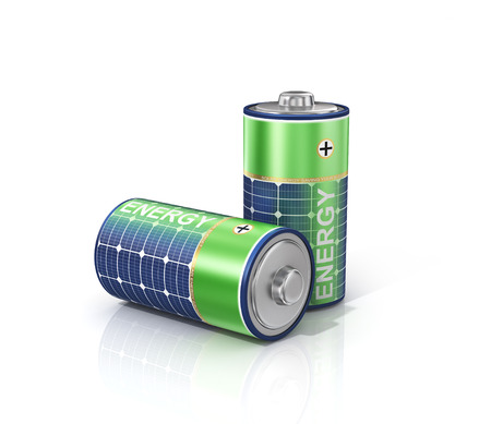 Baterías solares de energía.