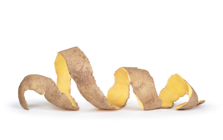 Potatoes with peel isolated on white background
