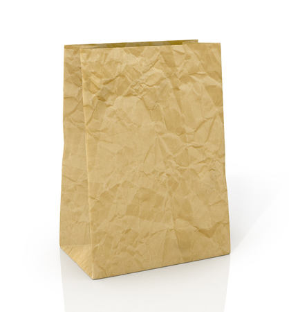 solvency: Paper bag on a white background
