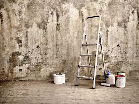 wall paint: 3d illustration of Repair indoor
