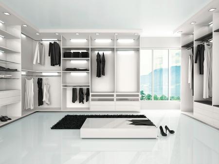 3D-afbeelding van luxe kast in moderne stijl Stockfoto - 47798203