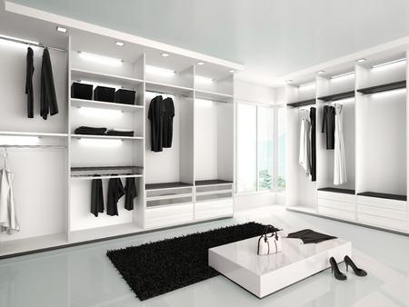 3D-Darstellung der modernen Küche Interieur in schwarz und grün co Lizenzfreie Bilder