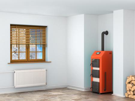 radiador: Caldera en el sótano