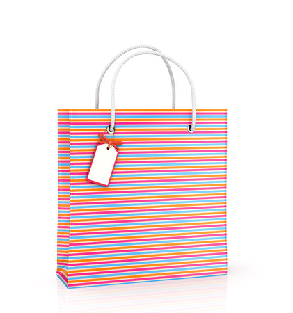 solvency: Coloured package with tags on white background.