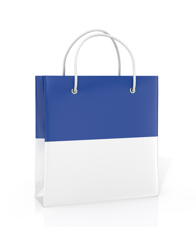delinquent: Coloured paper bag on a white background.