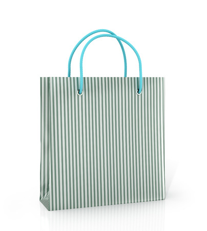 solvency: Coloured paper bag on a white background.