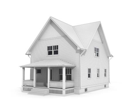 no color: The house have no color.