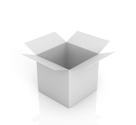 ebox: Open white box on a white background