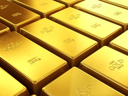 goldbars: business background of gold bullion Stock Photo