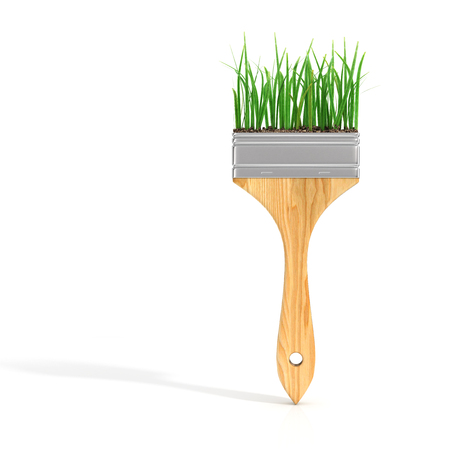 retouch: Brush with grass.
