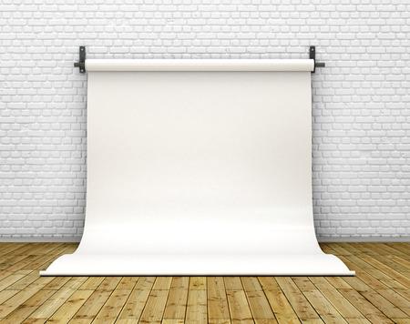 photo studio: Background paper in photo studio