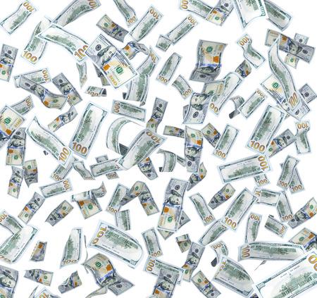 advances: flying in the air dollar bills