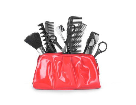 hair product: hairdressing appliances and appliances for manicure in a bag on