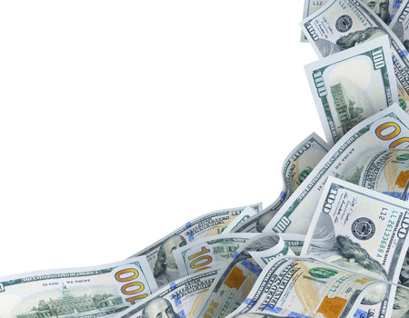 background for text with dollar banknotes