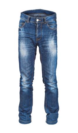 leer Herren-Jeans auf weißem Hintergrund isoliert