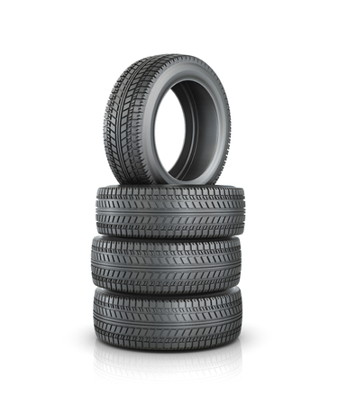 car tire: Rubber tire. Wheel, isolated on white background