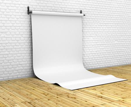 photo studio: ackground paper in photo studio
