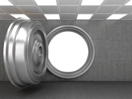 bank vault: Open Bank Vault Door