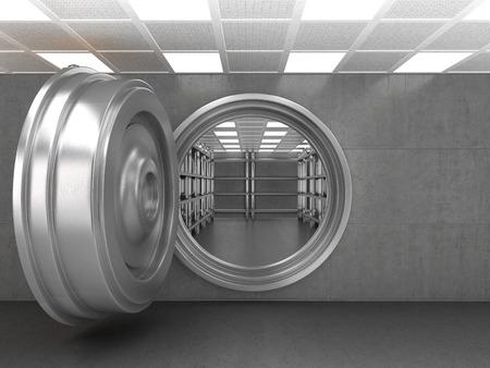 La porte d'un coffre de banque