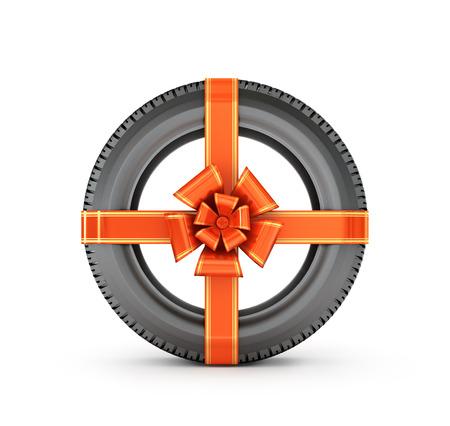 ar: ar tire with a red bow