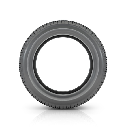 car tire: Car tire  on white background