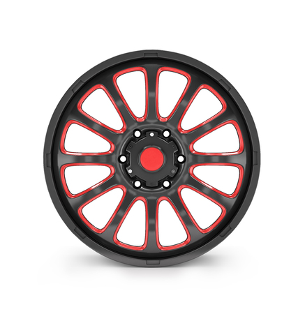 alloy wheel: car alloy wheel, isolated over white background Stock Photo