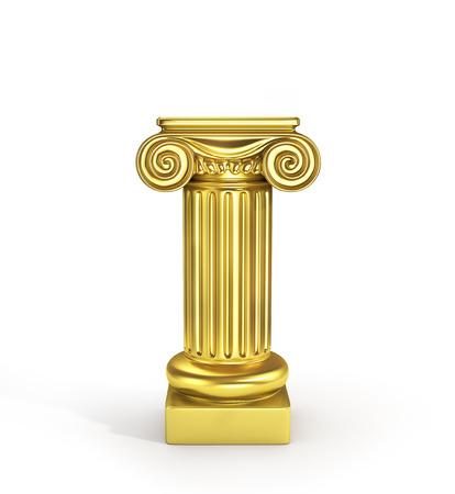 roman pillar: Gold empty column pedestal