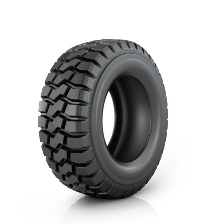 car tire: Car tire on white background. Stock Photo