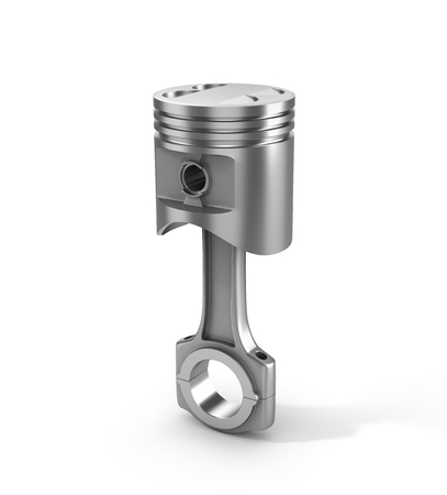 dismounted: 3d illustration of piston isolated on a white background. Stock Photo
