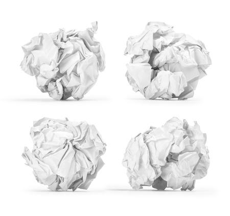 分離した紙を丸めてボール 写真素材