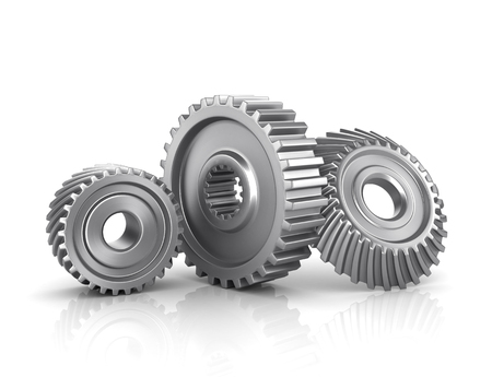 Gears isolated on a white Stock Photo