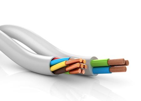 Câbles électriques Banque d'images - 53058457