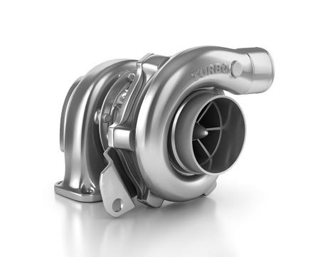 turbocharger: Steel turbocharger isolated on white background