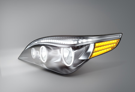 headlight car (done in 3d)