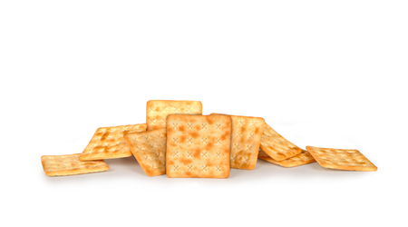 full of holes: Cracker isolated on white