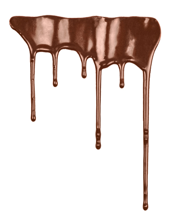 candy border: Flowing liquid chocolate Stock Photo
