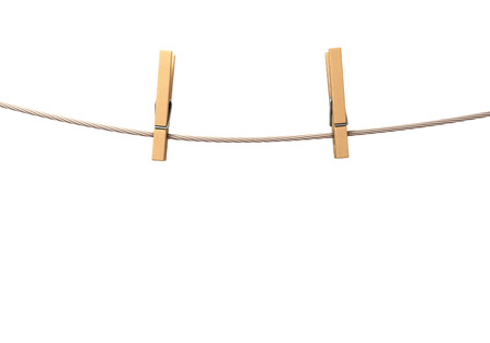 peg board: two clothespins on rope
