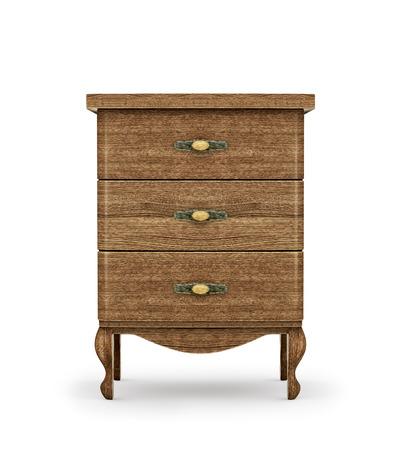 bedside: Bedside table made of wood