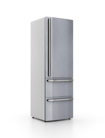 cooler boxes: isolated refrigerator on white background. 3d illustration