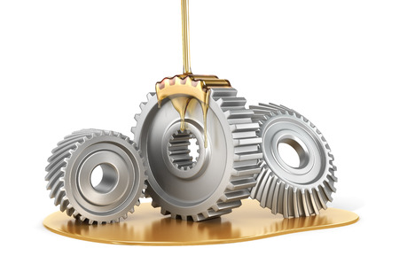 oiling: Oiling Gears. 3d illustration Stock Photo