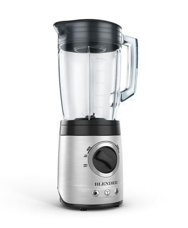 liquidiser: Electric blender. Kitchen appliance, equipment isolated on white. 3d illustration