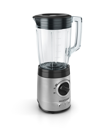 liquefy: Electric blender. Kitchen appliance, equipment isolated on white. 3d illustration
