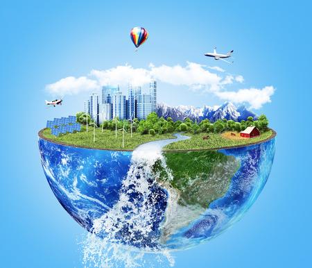 Eco-concept. Stad van de toekomst.