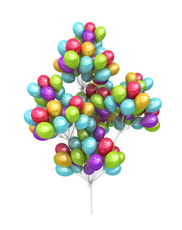 sheaf: sheaf from a large number of balloons 3d render
