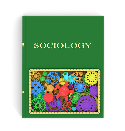beliefs: The concept of the book on sociology of shesternyamy.3D illustration Stock Photo